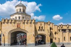 Sameba大教堂,第比利斯,乔治亚,欧洲 免版税图库摄影