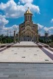 Sameba大教堂,第比利斯,乔治亚,欧洲 库存图片