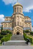 Sameba大教堂,第比利斯,乔治亚,欧洲 免版税库存图片