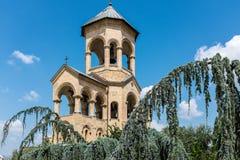 Sameba大教堂,第比利斯,乔治亚,欧洲 库存照片