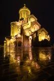 Sameba, cathédrale de trinité de St à Tbilisi, la Géorgie Image stock