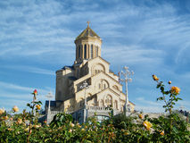 Sameba cathedral in Tbilisi Royalty Free Stock Images