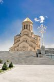 Sameba Cathedral in Tbilisi Stock Image
