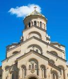 Sameba church exteriro. Tbilisi, Georgia Royalty Free Stock Photos