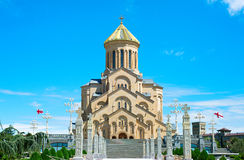 Sameba church, Tbilisi Stock Photos