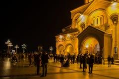 Sameba the Holy Trinity Cathedral of Tbilisi Stock Photos
