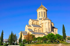 Sameba Holy Trinity Cathedral of Tbilisi, Georgia Stock Images