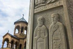 Sameba-Kathedrale stockbilder