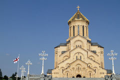 Sameba Orthodox cathedral in Georgia stock image