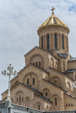 Sameba orthodox cathedral in Tbilisi Royalty Free Stock Photo