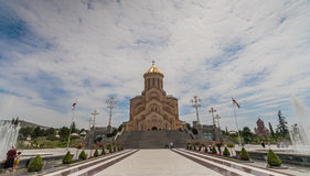Sameba orthodox cathedral in Tbilisi Stock Photo