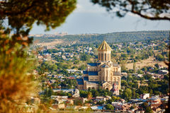 Sameba orthodox church cathedral in Tbilisi Stock Images