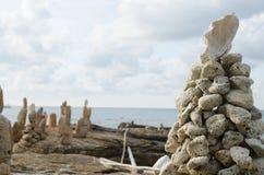 Samed海岛和蓝天在泰国 免版税库存照片
