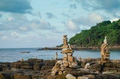Samed海岛和蓝天在泰国 库存照片