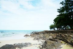 Samed海滩视图泰国 免版税库存照片