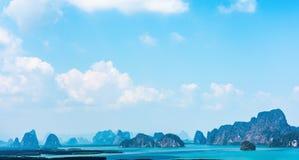 Samed nang chee at phang nga province, Thailand. Panorama scenic view of samed nang chee archipelago and bay at phang nga province, Thailand stock image