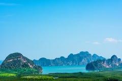 Samed nang chee at phang nga province, Thailand. Scenic view of samed nang chee archipelago and bay at phang nga province, Thailand royalty free stock photo