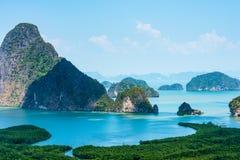 Samed nang chee at phang nga province, Thailand. Scenic view of samed nang chee archipelago and bay at phang nga province, Thailand royalty free stock image