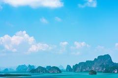 Samed nang chee at phang nga province, Thailand. Scenic view of samed nang chee archipelago and bay at phang nga province, Thailand royalty free stock photography