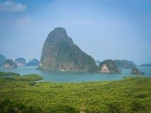 Samed nang chee, Phang Nga, Thailand. Samed nang chee viewpoint stock photos