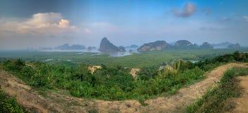 Samed nang chee, Phang Nga, Thailand. Samed nang chee viewpoints royalty free stock photography