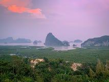 Samed nang chee, Phang Nga, Thailand. Samed nang chee viewpoints royalty free stock photo