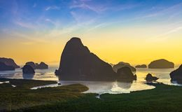 SAMED NANG CHEE. Sunrise & x22;SAMED NANG CHEE & x22; Phang-Nga , Thailand stock images