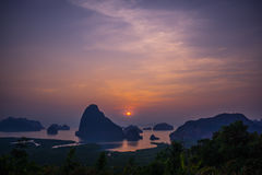 Samed Nang Chee View Point Imágenes de archivo libres de regalías