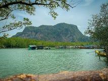 Samed nang chee, Phang Nga, Thailand. Samed nang chee viewpoints royalty free stock image