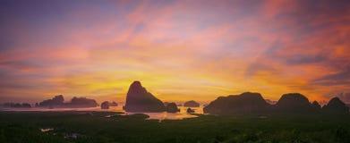 Samed Nang She panorama. Royalty Free Stock Images