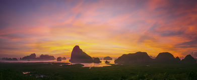 Samed Nang sie Panorama Lizenzfreie Stockbilder