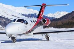 Cessna 510 Citation Mustang. Samedan/Switzerlad: Cessna 510 Citation Mustang at Engadin Airport in Samedan/Switzerland 18.02.2017 Stock Images