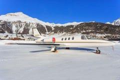 Cessna 501 Citation. Samedan/Switzerlad: Cessna 501 Citation 1SP at Engadin Airport in Samedan/Switzerland 18.02.2017 Royalty Free Stock Images