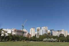 Samedi après-midi au parc Parque du ` s de personnes font Povo dans la PA de sao photo libre de droits