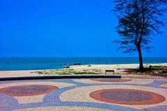 Samela beach. A beach is beautiful, the green tree, the green sea, the sky is blue Stock Image