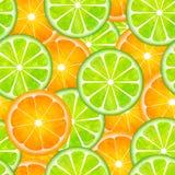 Sameless lemon and orange pattern painting Stock Photo