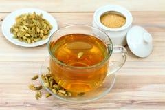 Samen des schwarzen Tees und des Kardamoms Lizenzfreies Stockbild