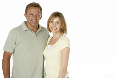 Samen Gelukkige echtgenoot en Vrouw royalty-vrije stock foto