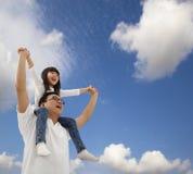 Samen gelukkige vader en dochter Royalty-vrije Stock Afbeelding