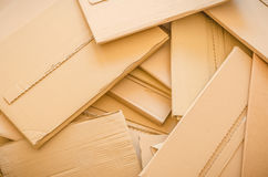 Samen geworpen Cardboards Royalty-vrije Stock Foto's
