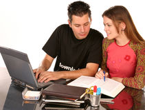 Samen het bestuderen Stock Fotografie