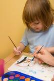 Samen het schilderen Stock Afbeeldingen