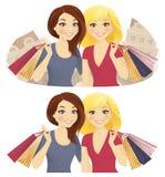 Samen het winkelen Stock Afbeelding