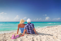 Samen op perfecte vakantie Stock Foto