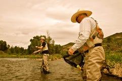 Samen visserij Royalty-vrije Stock Afbeeldingen