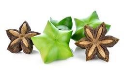 Samen von sacha inchi, von sacha Mani oder von Sterninkaerbsen stockfotografie
