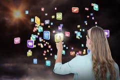 Samengesteld beeld die van hipster met haar 3d vinger richten Royalty-vrije Stock Foto