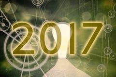 Samengesteld beeld van 2017 Stock Afbeeldingen
