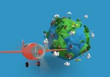 Samengesteld beeld van aarde in 3d Royalty-vrije Stock Foto's
