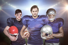 Samengesteld beeld van Amerikaans 3D voetbalteam Stock Fotografie